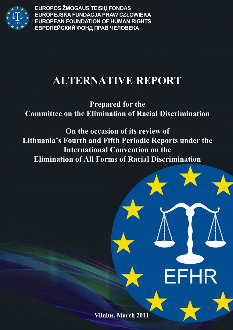 Alternative report prepared for the Committee on the Elimination of Racial Discrimination