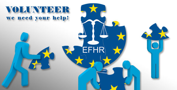 Become a trainee at EFHR and take part in free training courses