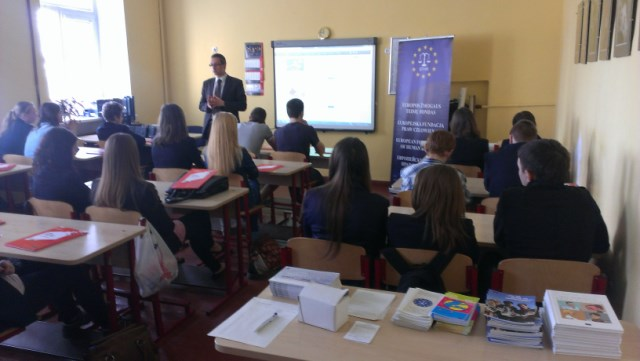 EFHR's workshops at schools in May