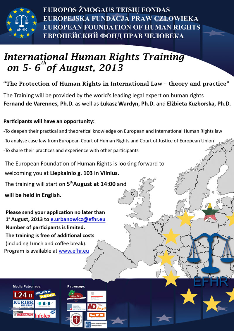 Free training on International Human Rights!