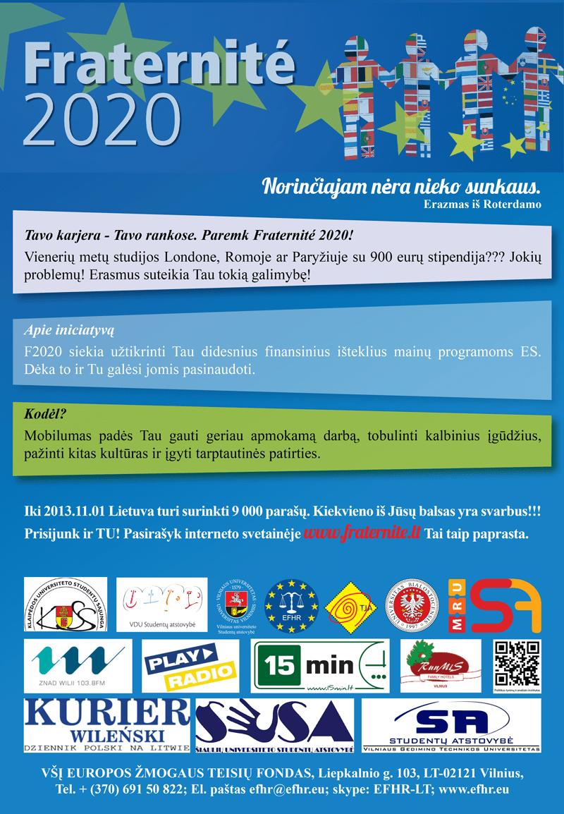 "European Citizens' Initiative ""Fraternité 2020"""