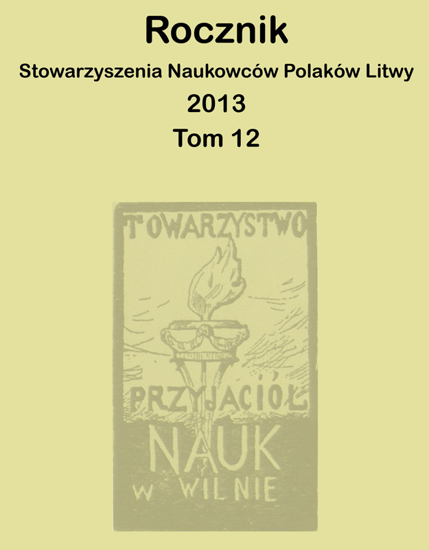 Association of Polish Scholars of Lithuania publishes its 2013 Yearbook