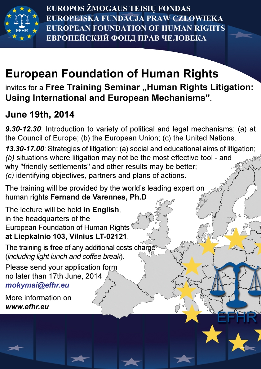 EFHR invites you to a free training session!