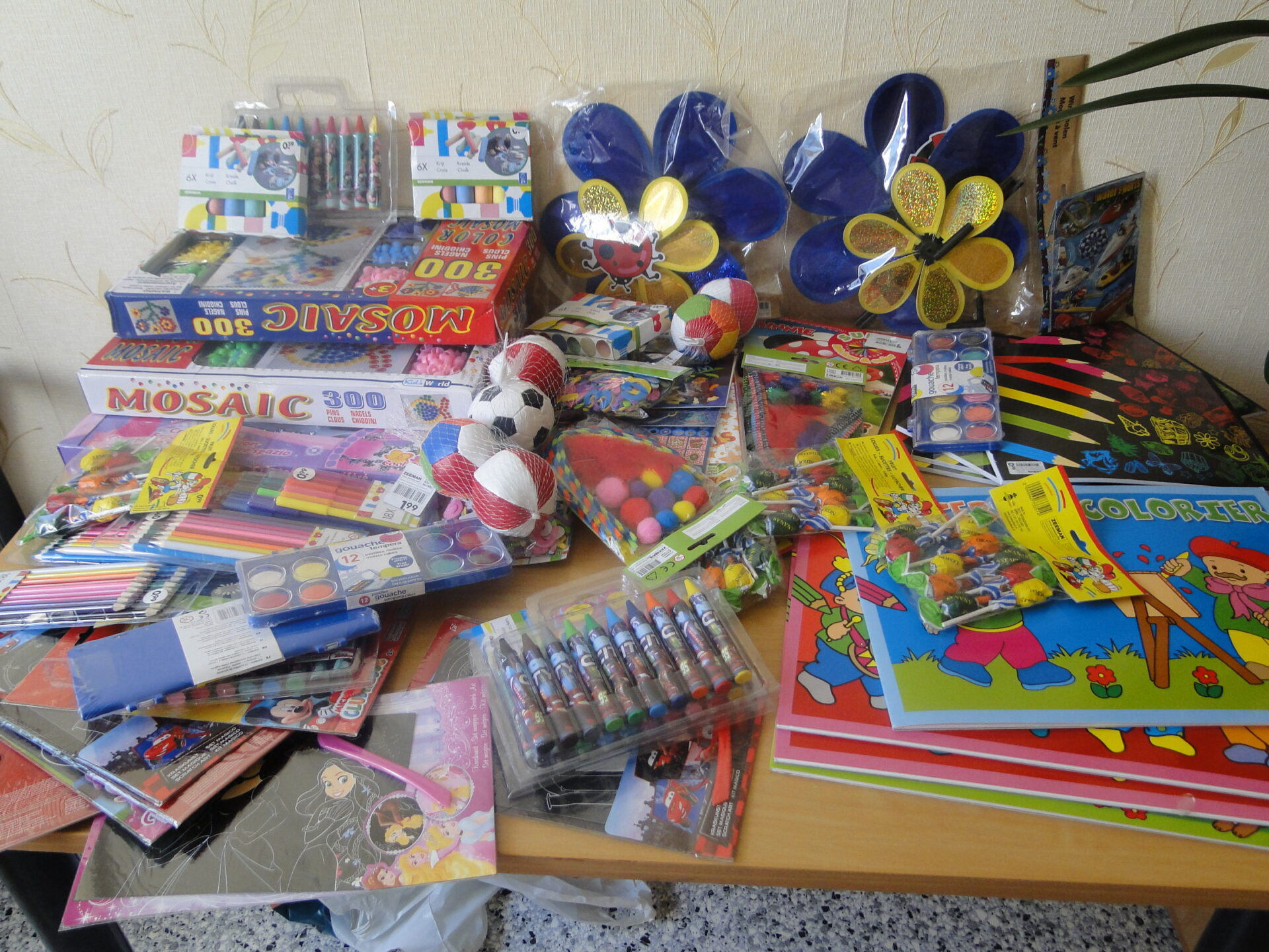 EFHR's gifts for children from the Pabradė orphanage