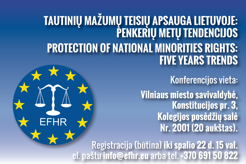 EFHR 'PROTECTION OF NATIONAL MINORITIES RIGHTS: FIVE YEAR TRENDS' Conference