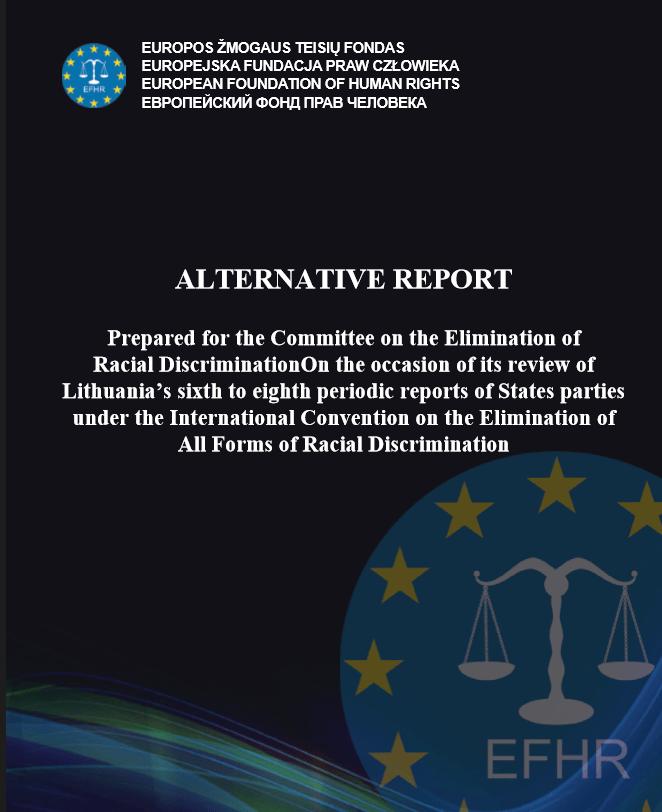 EFHR Alternative Report for CERD