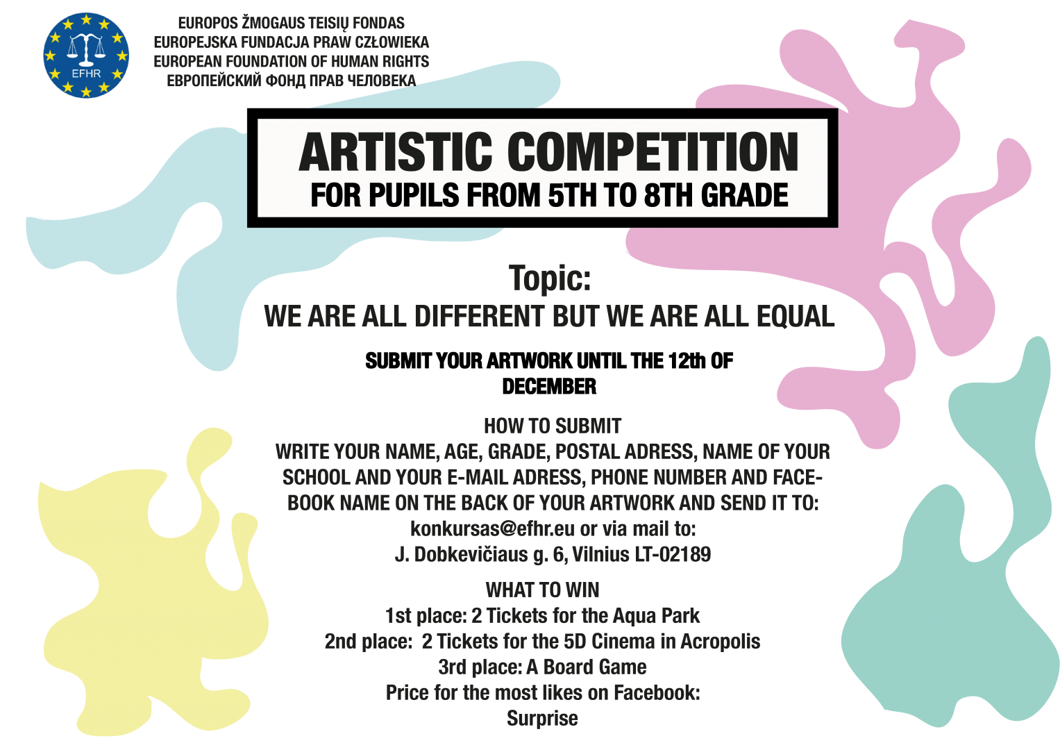 International Human Rights Day – new artistic competition for pupils